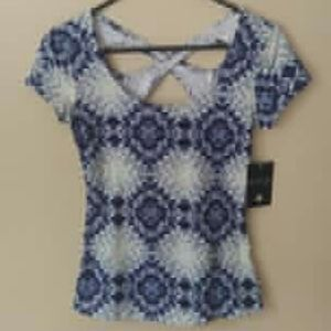 Energie blue&white exercise blouse size Small